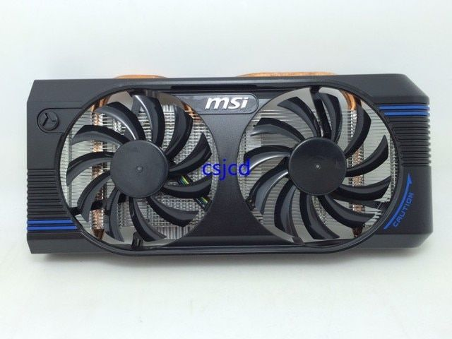 New Original for MSI GTX460 GTX560 Extreme V5 bold two heat pipe radiator cards dual fan