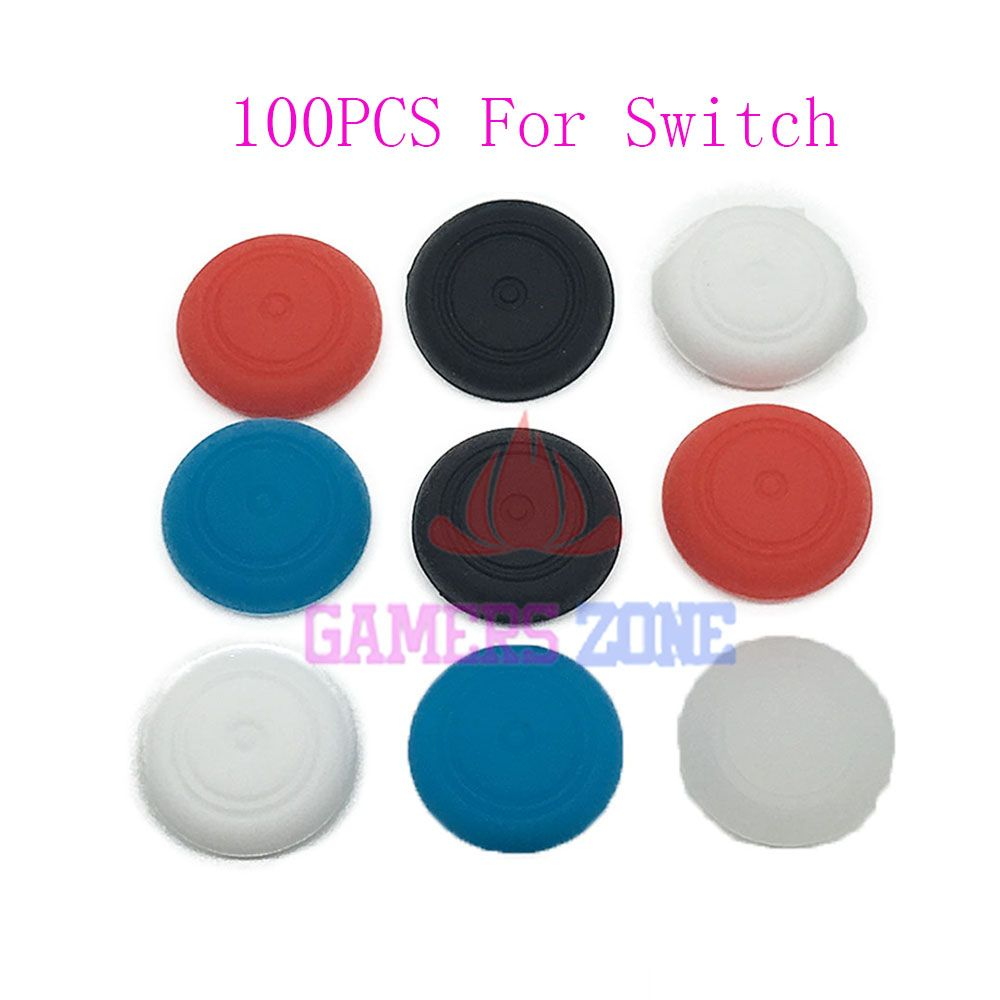 100PCS  Silicone Thumb Stick Grip Caps Gamepad  For Nintendo Switch NS Analog Joystick Cover Case