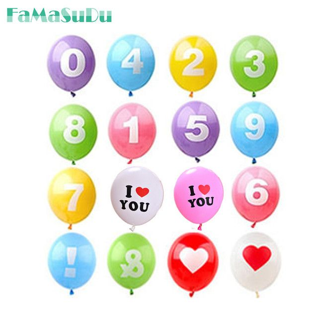 10Pcs Number latex Inflatable Balloons 0-9 Wedding Happy Birthday Decoration Air Balloons Party Balloon Children's Gifts