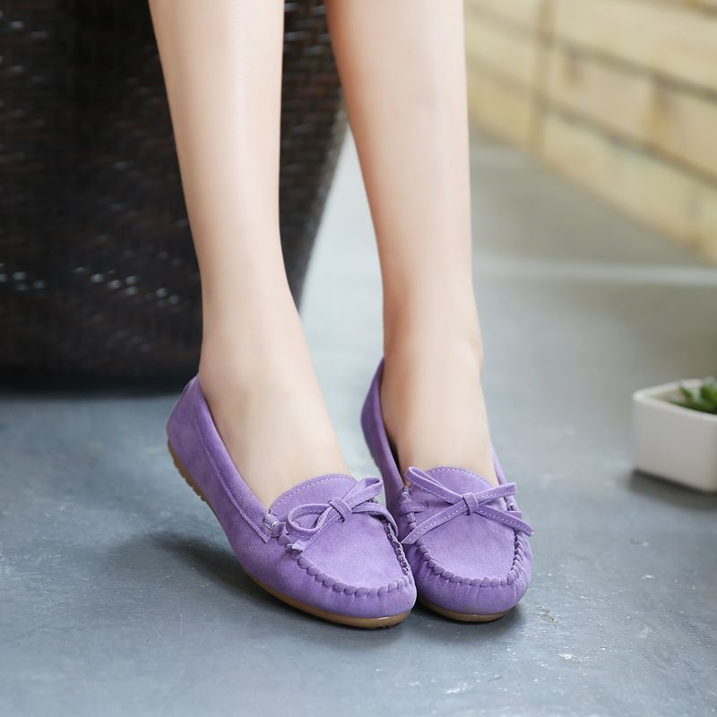 pregnant women loafers suede indoor bow Moccasins Ballerina shoes female casual shoes chaussure femme Slip on Ballet Flats