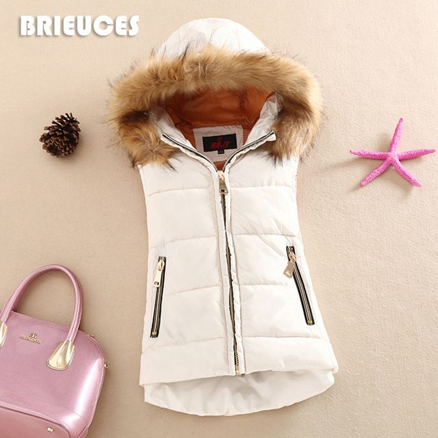autumn and winter 2016 cotton vest with a hood patchwork cotton vest female reversible winter jacket women