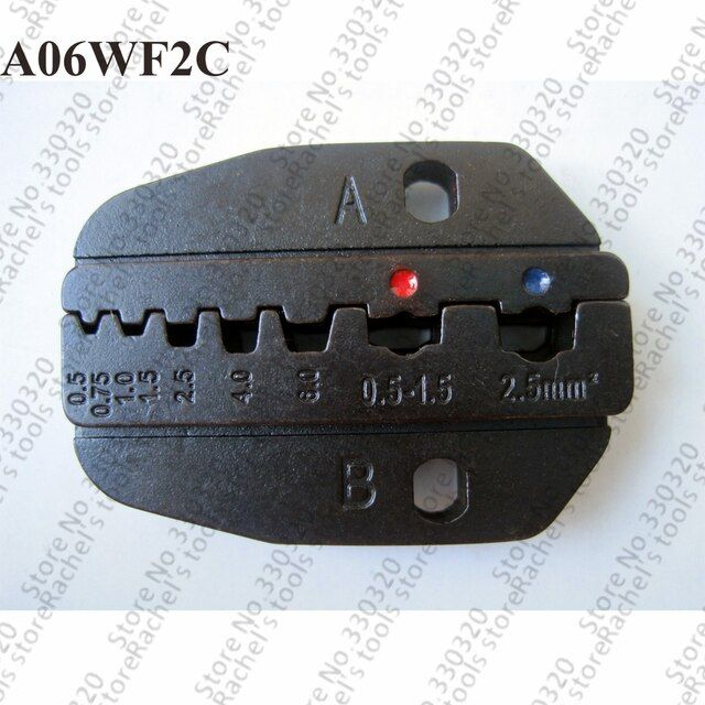 A06WF2C crimping jaw for wire end sleeves and insulated terminals,crimping die set
