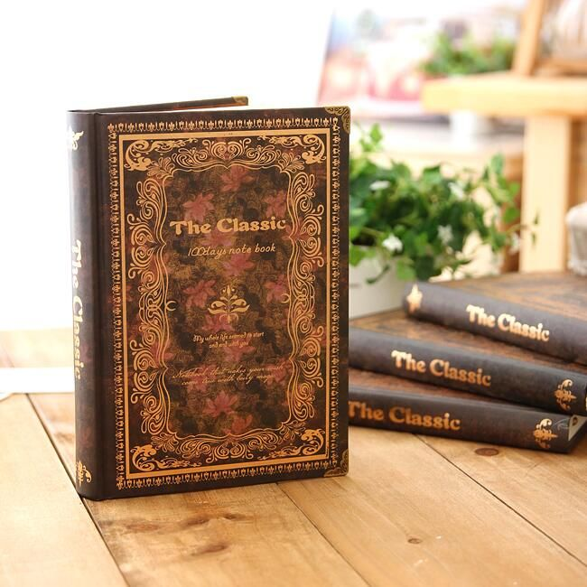 """Back in Time"" Hard Cover Notebook Classical Journal Lined Papers Planner Vintage Diary Stationery Gift"
