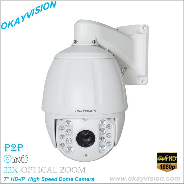7 inch HD-IP  High Speed Dome Camera Onvif  1080P 2.0 Megapixel 22X optical zoom Network IP PTZ camera medium speed dome camera