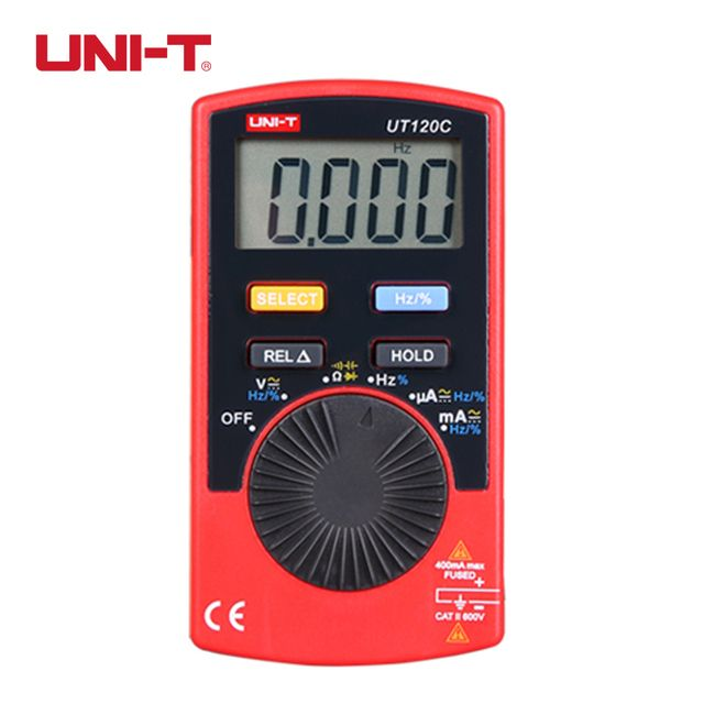 UNI-T UT120C Ultra-portable Auto Ranging Auto-off Digital Multimeter Capacitance Resistance AC DC Current Voltage Meter Tester