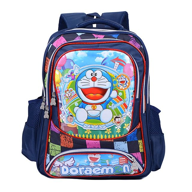 New fashion cute Doraemon cartoon bags boys  children school backpacks kids book bag
