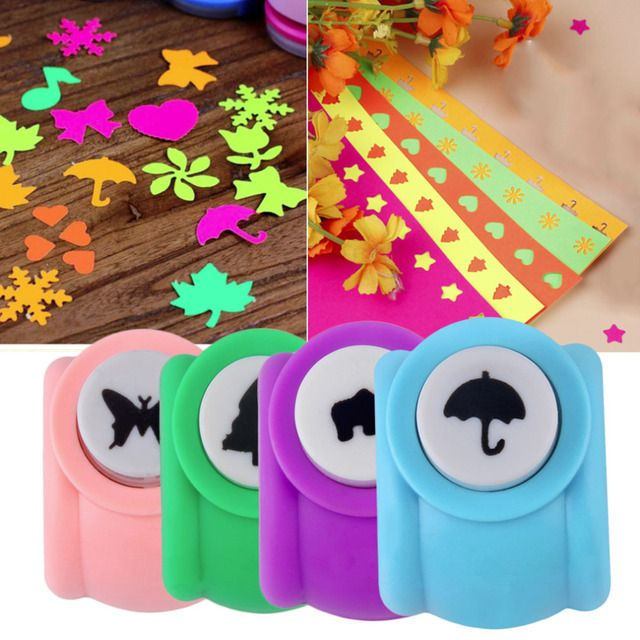 UNIKEA DIY Scrapbooking Decorative Hole Puncher Child Mini Puncher Printing Paper Hand Craft Puncher Shape Card Craft Punch Whol
