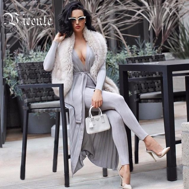 Free Shipping! 2018 Hot Runway Inspird Striped Pattern Exquisite Jacquard with Belt Two Piece Set Celebrity Jacquard Bandage Set