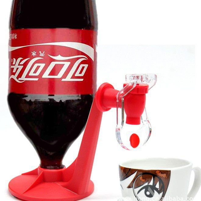 Fashion New Cute Fridge Fizz Saver Soda Beverage Drink Dispenser Bottle Drinking Water Dispense Machine Party Beer Gadget SK316