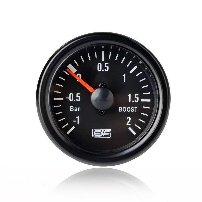 "Universal Car Styling Instrument 2"" 52mm Black Tinted -1~2 bar boost Car Smoke Gauges Meters"