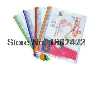 12 Pcs/Lot Deli 5594-PVc B5 Waterproof mesh zippered bag storage holder for documents office school supplies stationery products