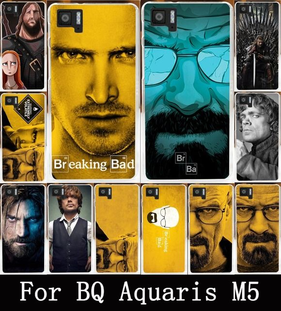 AKABEILA TV Breaking Bad White Soft TPU Hard PC Cases For BQ Aquaris M5 M 5 5.0 Covers Case Back Protection Bags For BQ M5