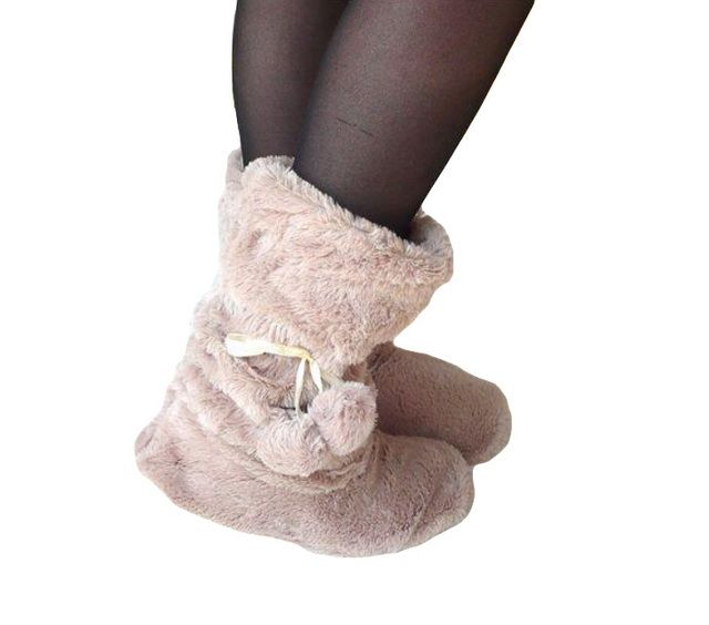 Memon Winter Boots Floor Shoes Home Slippper warm comfortable boots cute plush ball Flooring boots