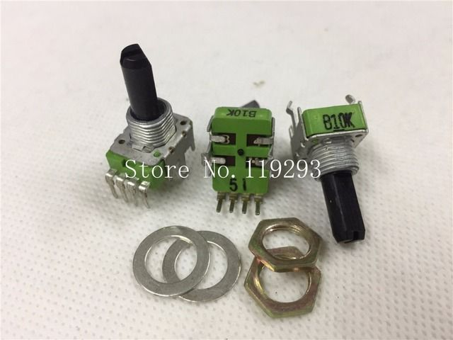 [BELLA]TAIWAN ALPHA potentiometer RK11K Series legs  sound dental instruments A10K/B10K  18MM handle Potentiometer--10PCS