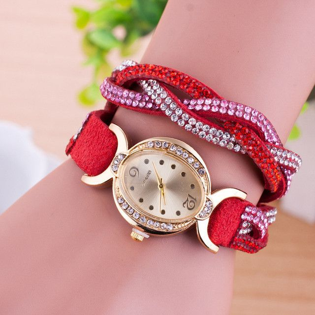 Cheapest!! Clearing Stock! 2017 New Hot Selling Women Leather Bracelet Watch Women Dress Watches leaf Vintage WristWatch W222