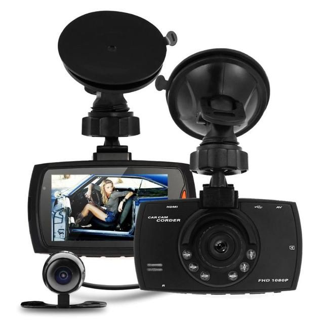 "Car DVR Dual Camera Full HD 1080P 2.7"" Dash Cam Car DVR Video Camera Recorder Dual Camera Crash 1.2M CMOS sensor DVR Camera"