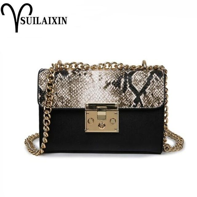 Snake Bags For Women Fashion Shoulder Bags Small Chain Messenger Crossbody Bags serpentine Leather Crossbody Flap Bag