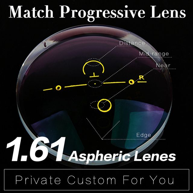 Extra fee for 1.61 Progressive Lens Aspheric Anti Reflective Multi-focal Lens HMC Graduated Progressive Addition Varifocal Lens