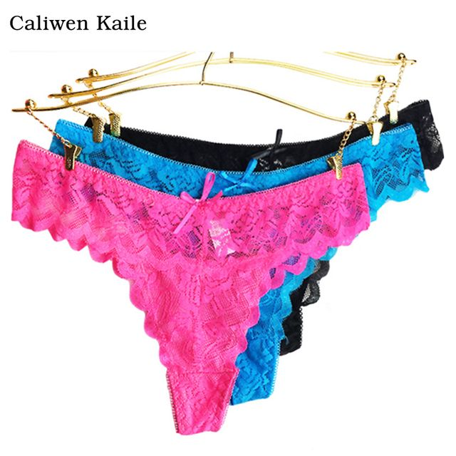 6colors lace Women's Sexy Thongs G-string Underwear Panties Briefs For Ladies T-back 2017 New Fashion and Hot Sale