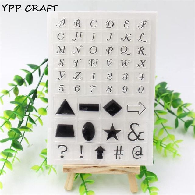 YPP CRAFT 1 sheet DIY Transparent Clear Rubber Stamp Seal Paper Craft Scrapbooking Decoration Letters 928