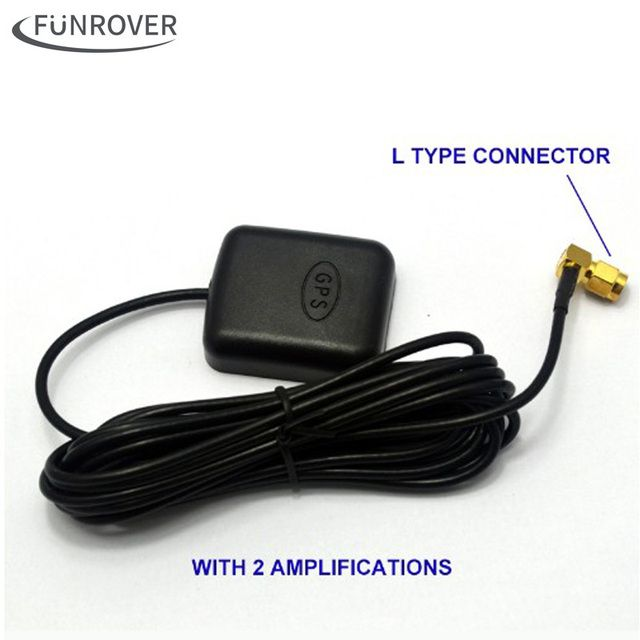 Free Shipping Hot Super Signal Car GPS Active Antenna with Amplification Car DVD Navigation GPS Antenna SMA Interface