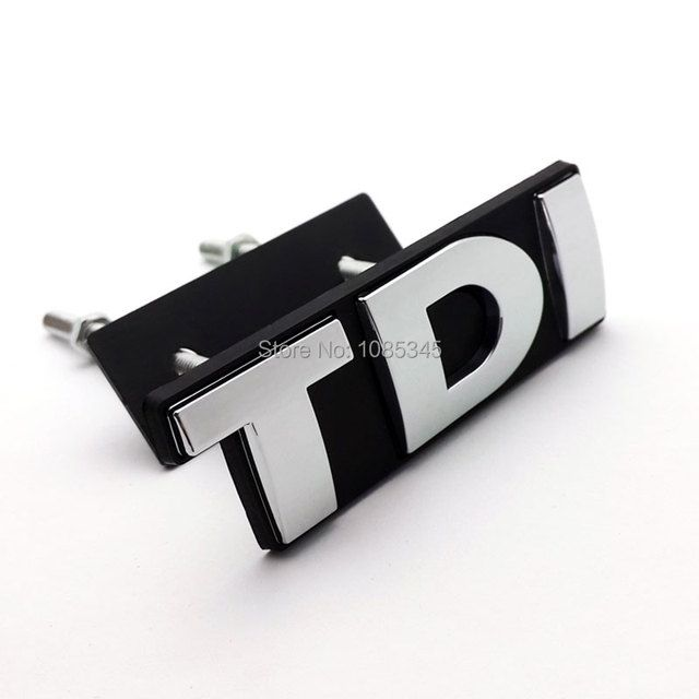 Chromed Finish Silver TDI Front Grill Emblem Badge SPORT EDITION for Volkswagen POLO Golf 4 5 6 7 VW Car-Styling Accessories