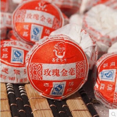 Chinese Mini Yunnan Puer Tea, rose black tea Flavor Pu er, tea for weight loss 10pcs