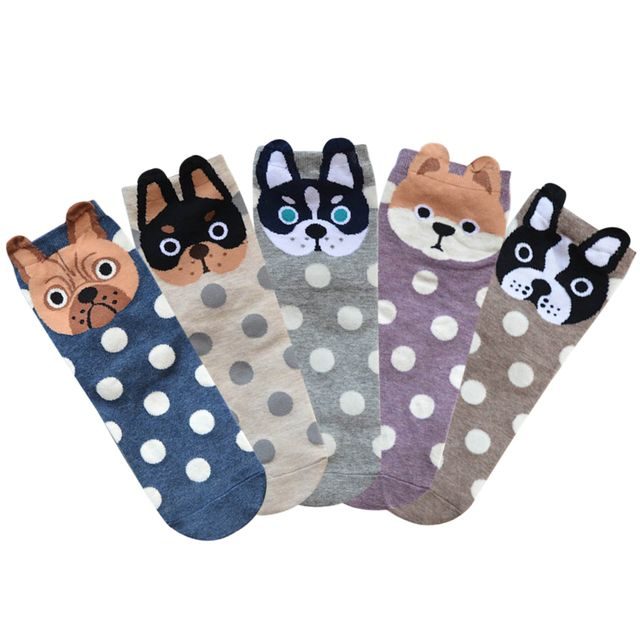 Fashion Korean style Winter Women 3D Cute Little Animal Print Socks Cartoon Cotton Tube Socks Warm Socks L3