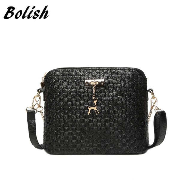 Bolish New Arrive Pu Leather Women Bags Fashion Embossed Women Handbag Small Chain Shoulder Bag Crossbody Bag