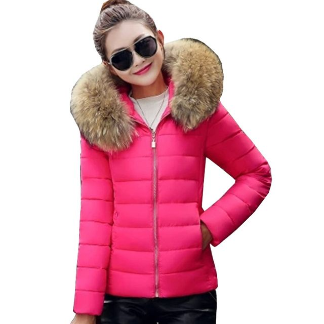 New Fashion Autumn Winter Jacket Women Large Faux Fur Collar Hooded Down Cotton Coat Female Short Slim Plus Size 3XL Parka