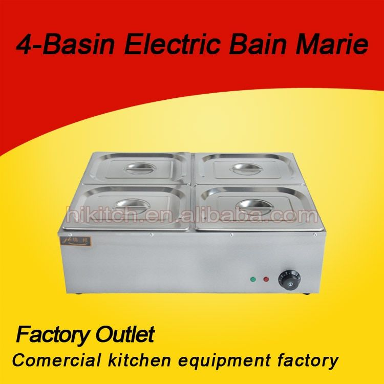 Stainless steel bain marie buffet food warmer for restaurant