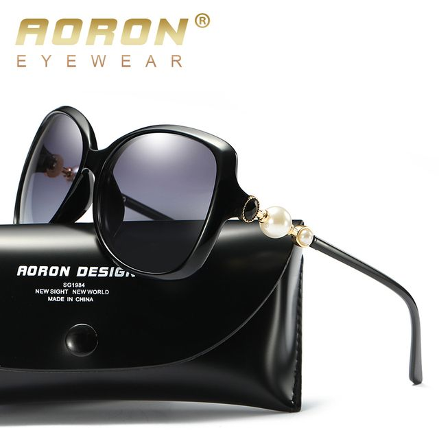2017 Aoron Sunglasses Women Polarized UV 400 Oversized Vintage Female Sun Glasses Shades With Case Glasses Gafas De Sol A400