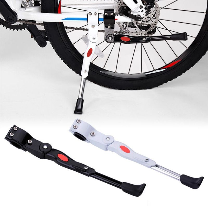 Bike Foot Kick Stand MTB Bicycle Cycling Aluminium Alloy Adjustable Prop Side Rear Kick Stand Parking Rack Paking Legs Rack prop