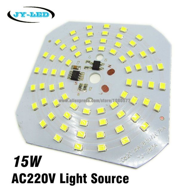 10pcs 15W SMD2835 220v Lamp Plate Integrated IC Driver High Bay Light LED PCB, Directly Needn't Driver Light Source Panel