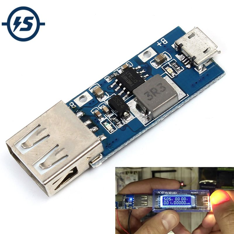 5pcs/lot DC-DC Step Up Power Module  3V 3.3V 3.7V 4.2V to 5V Boost Converter Regulated USB Power Bank For Smart Phone