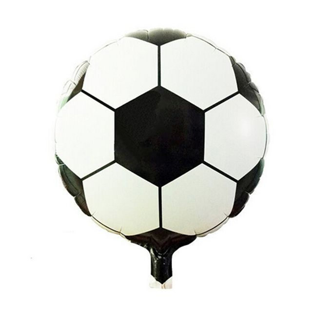 Hot 1pc 18inch Round Soccer/Football Foil Balloons Inflatable Toys For Children Games Kids Happy Theme Party Layout