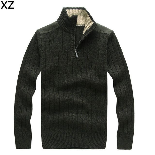 Top Quality Brand 2016 New Fashion Men Sweaters and Pullovers Famous Brand Half Zipper Sweater Men plus size S-2XL