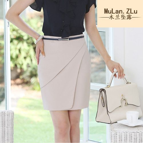 2015 women skirts in the professional package hip skirt with belt suit waist bigger sizes S - 3 XL faldas