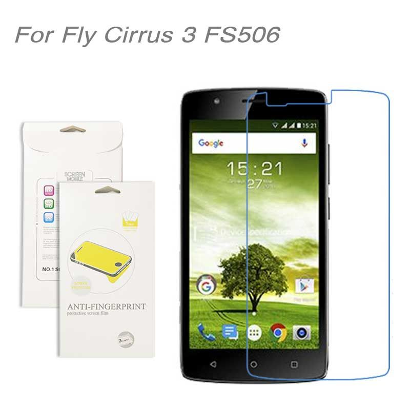 For fly Cirrus 3 FS506 film, 3pcs/lot High Clear LCD Screen Protector Film Screen Protective Film Screen Guard For fly FS506