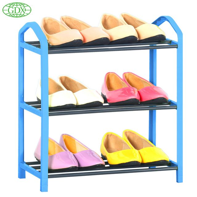 GDX New Standing 3 Tier Shoe Shelf Rack Organizer Space Saving Room Shoe Rack Shoes Organizer DIY Simple Zapatos Organizadors