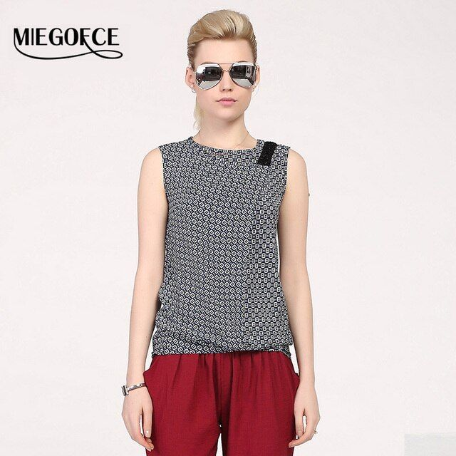 MIEGOFCE 2016 New arrival summer vest for women top Artificial cotton sleeveless with round neck fashion pringting women's vest