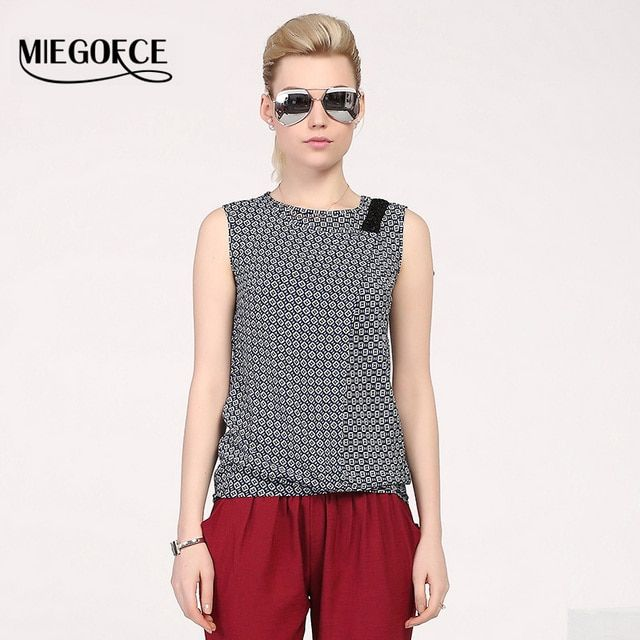 MIEGOFCE 2016 New arrival summer vest for women top cotton sleeveless with round neck fashion pringting women's vest clothes