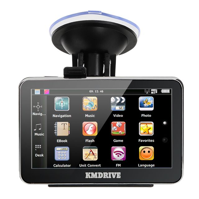 "KMDRIVE 4.3"" inch TFT-LCD Touch Screen  4GB 8GB Car GPS Navigation Navigator with Multimedia Player /FM Radio /TF Slot"