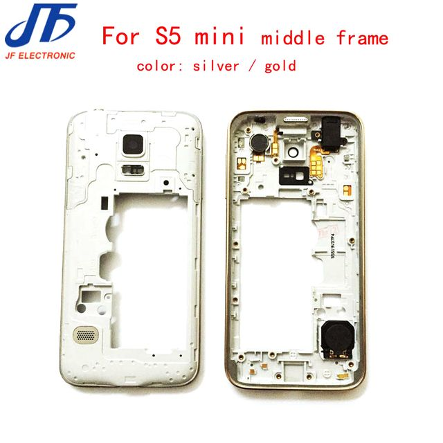 50pcs/lot LCD Middle Plate Housing Frame Bezel Camera Cover + small parts For Samsung Galaxy S5 mini G800F G800H G800A silver