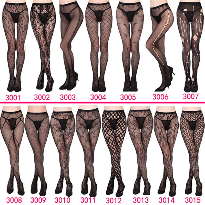 Leopard cobweb roses butterfly bas collants femme black pantyhose sexy nylons women fishnet tights SX1930