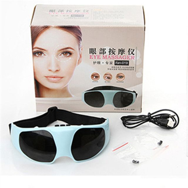 Electric Eye Massager sleeping eye mask USB Migraine DC Electric antifaz para dormir blindfold  Forehead Eye Massager US EU Plug