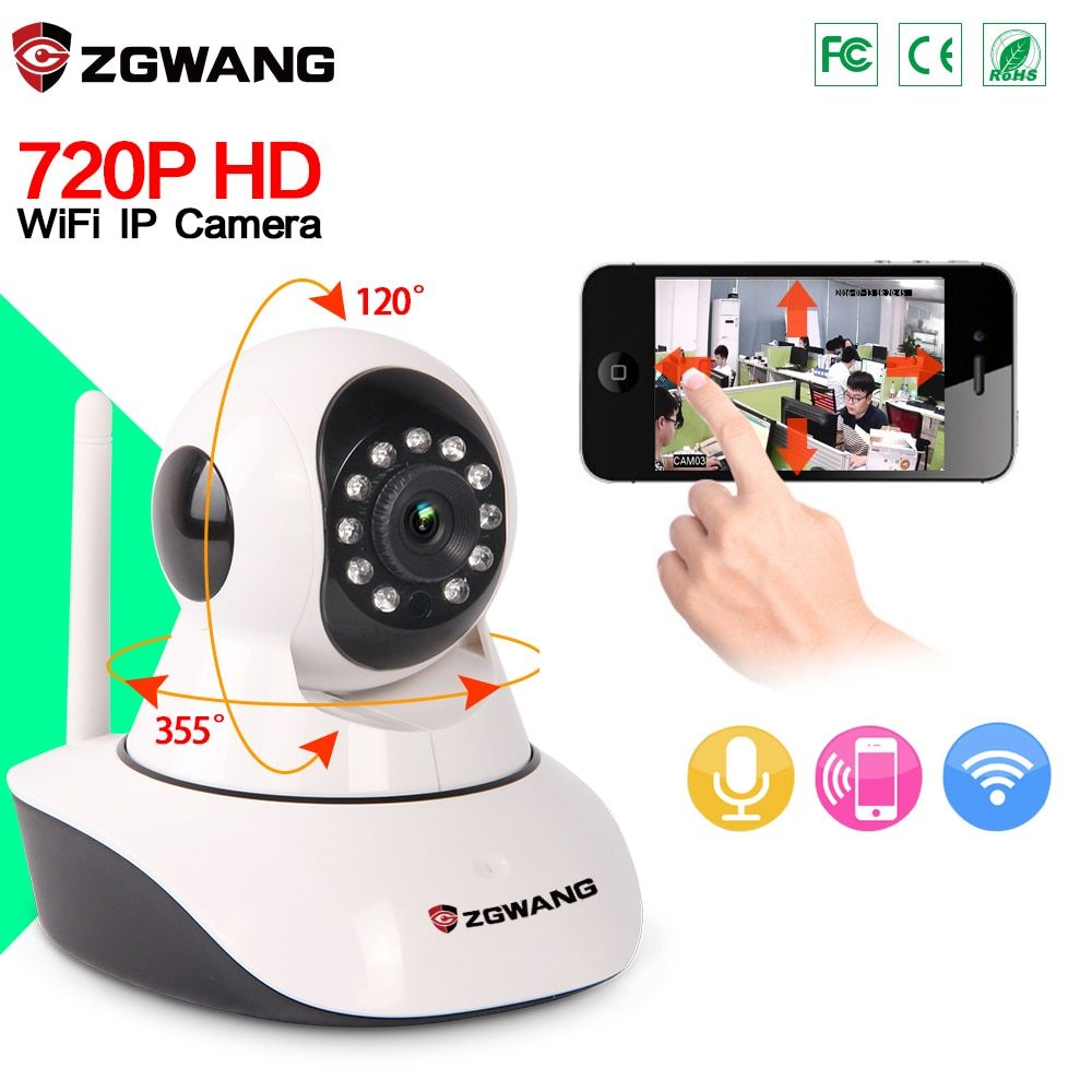 ZGWANG 720P mini IP Camera Wireless WiFi Camera Surveillance P2P Infrared Night Vision Home CCTV Camera Baby Monitor