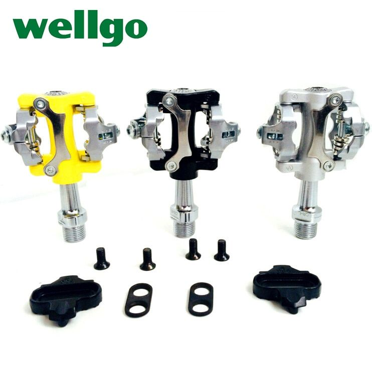 WELLGO W01  Bicycle Peda aluminum alloy road bike pedal mountain bike pedal bicycle parts Folding bike pedal bike lock pedal