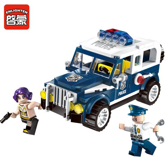 149pcs Enlighten building blocks City police Series Hunted Escapee car Compatible all brand bricks Educational blocks toys gift