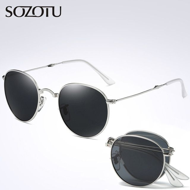 Fashion Folding Polarized Sunglasses Men Women Brand Designer Driver Foldable Sun Glasses For Male Female Driving  YQ255